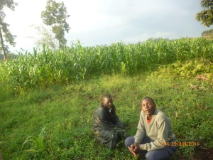 Emmanuel and Victor on Great Mercy Farm.